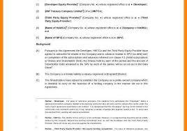 Spv Agreement Template Spv Agreement Template 5 Agreement Example ...