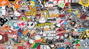 583093 3840x2160 stickers 4k pc desktop ...