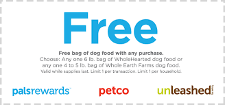petco dog food whole earth. Fine Food Attention Petco Pal Rewards Members U2014 Print This Coupon For A FREE 6 Lb  Bag Of WholeHearted Dog Food Or 45 Whole Earth Farms With ANY  With D
