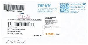 Aangetekend brief buitenland