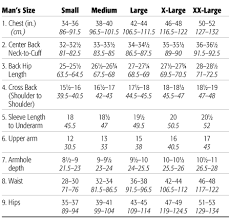 Mens Size Chart Mens Size Measurements For Crocheting Knitting And Sewing