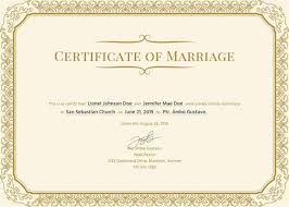 17 Printable Marriage Certificate Free Premium Templates