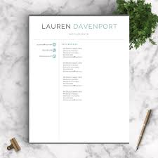 Professional Resume Template The Davenport