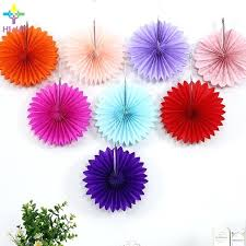 How To Make Hanging Paper Ball Decorations Impressive Tissue Paper Decorations Color Tissue Paper Fans Flower Paper Crafts