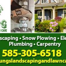 lawncare ad young landscaping lawn care snow removal 8831 hopkins rd