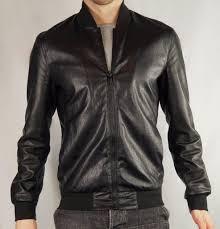 zara men 2016 collection black faux leather er jacket uk size m medium
