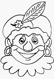 Kleurplaat Zwarte Piet Foto Kleurplaten Maskers Sinterklaas Archidev