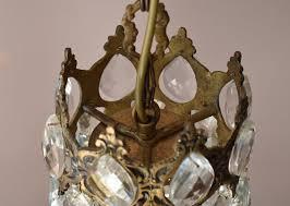 antique vintage crystal chandelier in