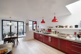 Beautiful Red Pendant Light For Kitchen London Red Pendant Light With  Contemporary Woks And Stirfry Pans