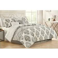 king comforter sets damask grey white print 7 piece cal set jcpenney comforters california bedrooms
