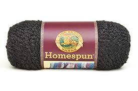 Lion Brand Homespun Yarn Color Chart Lion Brand Yarn Lion Brand Homespun Yarn 373 Black