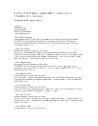 63 Resume Mechanical Engineering Cover Letter Engineering