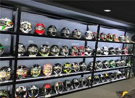 Motorcycle Helmet Display Stand Interesting Custom Brand Store Fancy Modern Glass And Metal Motorcycle Helmet