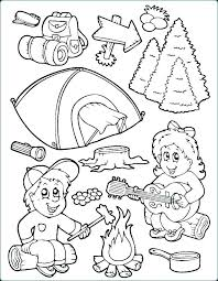 Daisy Girl Scout Kleurplaten Camping Camping Coloring Pages For