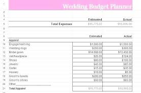 Wedding Budget Planner Excel Template Utopren Me