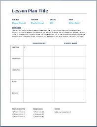teacher lesson plan template blank daily lesson plan template printable editable blank
