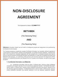 Confidentiality Agreement Samples Free Confidentiality And Nondisclosure Agreement Template