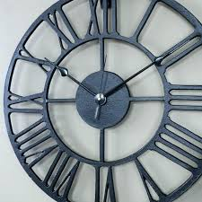 wall clock iron black with prepare large wrought clocks australia