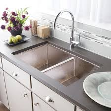 cocina duet double bowl kitchen sink in brushed nickel