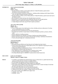 Agile Resume Sample Agile Developer Resume Samples Velvet Jobs 8