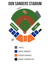 Ncaa Final Four Houston Seating Chart Don Sanders Stadium Seating Map Sam Houston State Bearkats