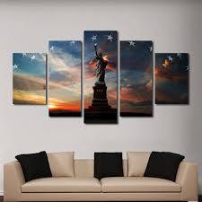statue of liberty multi panel wall art canvas mighty paintings regarding 2018 multi panel canvas