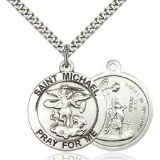 sterling silver st michael medal gold st michael medal