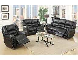 black leather reclining sofa.  Reclining Throughout Black Leather Reclining Sofa L