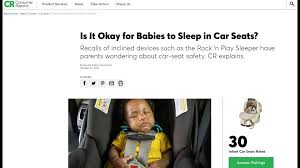 child to sleep in the car seat when