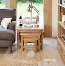 stunning baumhaus mobel. Contemporary Baumhaus Baumhaus Mobel Solid Oak Nest Of 3 Coffee Tables  In Stunning