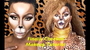 finally cheetah makeup tutorial