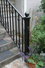 Handrail railing,single post handrail,sturdy outdoor handrails with base wrought iron stair handrail fits 1 or 2 steps grab rail for steps porch,gray. 15 Hand Rails For Daddy Ideas Iron Railing Wrought Iron Stair Railing Wrought Iron Stairs