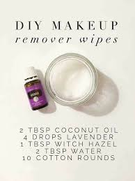 diy makeup remover wipes with young living essential oils member number 3309848