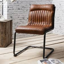 hutch frank vintage real leather dining chair