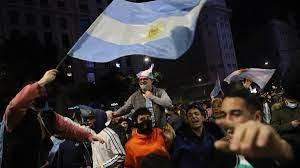 Arjantin halkı Kupa Amerika zaferini kutluyor