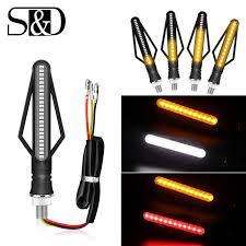 Đèn LED Xe Máy Biến Tín Hiệu Đèn Xe Máy Đèn Báo Biển DRL Moto Flasher Đuôi  Phanh Bóng Trắng Vàng Đỏ 