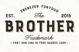logo font brother font duo 16 badges logo by fo font bundles