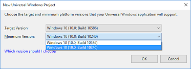 Windows Flatform Selecting Right Version While Creating Your Universal
