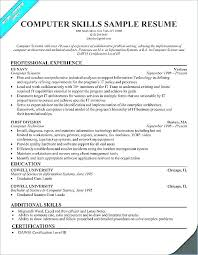 Additional Skills For Resume Examples Of Summary Of Qualifications Amazing What To Put For Skills On A Resume