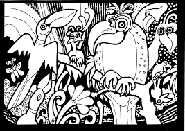 Small Picture Africa Coloring pages for adults coloring adult africa parrots