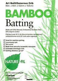 eQuilter Bamboo Batting - 50% Bamboo/50% Organic Cotton - Crib 60 ... & Bamboo Batting - 50% Bamboo/50% Organic Cotton - Crib 60