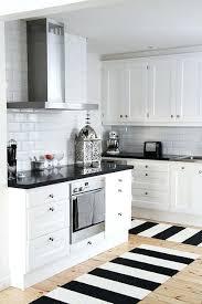 black and white kitchen black white striped kitchen rug