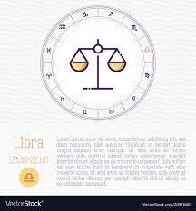 Zodiac Circle Chart Libra In Zodiac Wheel Horoscope Chart With