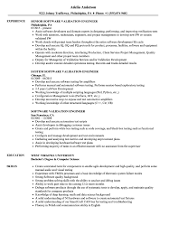 Software Validation Engineer Resume Samples Velvet Jobs