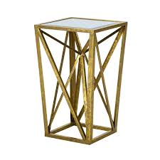 gold end table. Amazon.com: Madison Park Angular Mirror Accent Table, Gold: Kitchen \u0026 Dining Gold End Table