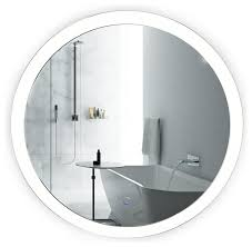 Sol Wall Mounted Round LED Lighted Bathroom Mirror With Defogger