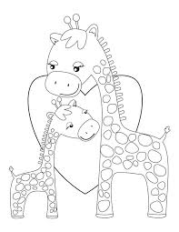 Small Picture Printable Coloring Pages Giraffe Coloring Pages