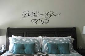 Monogram Decorations For Bedroom Bedroom Wall Decal Be Our Guest Wall Quote Vinyl Wall Art