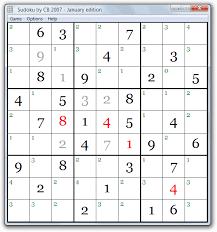 Sudoku Free Download For Windows Sudoku By Cb