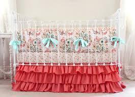 blush pink and c crib bedding girl gold nursery noaki jewelry